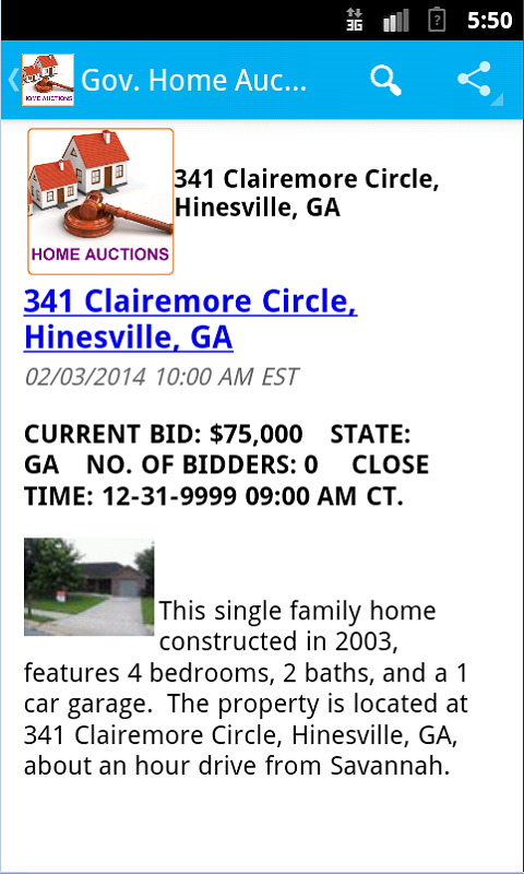 Gov. GSA Real Estate Auctions- screenshot