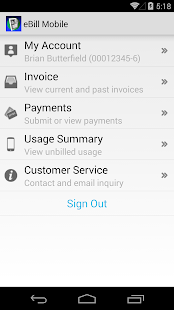 eBill Mobile- screenshot thumbnail