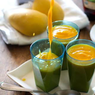 Papaya Mango Smoothie.