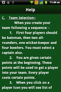 Cricket Selector - screenshot thumbnail