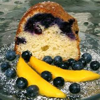 Blueberry Cream Cheese Pound Cake I.