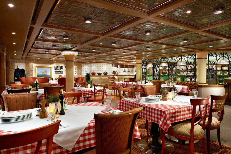 When you're in the mood for Italian cuisine, head to the Cucina Del Capitano restaurant during your Carnival Breeze cruise.