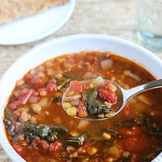 Easy Lentil Spinach Soup