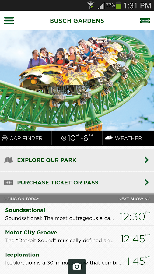 Busch Gardens Discovery Guide- screenshot