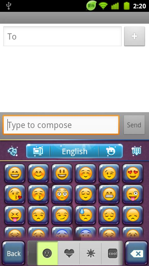 GO Keyboard Aries theme - screenshot
