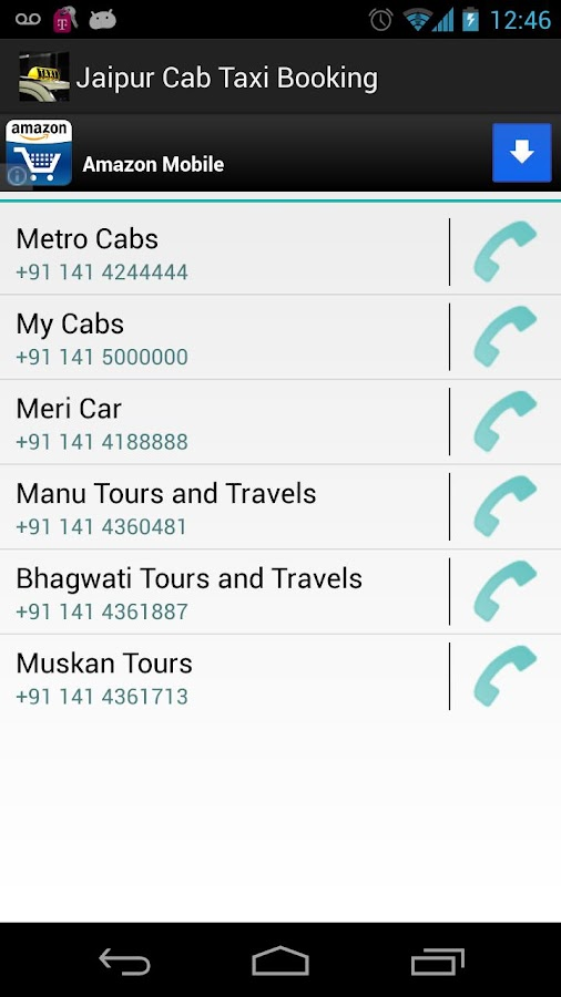 Jaipur Cab Taxi Booking - screenshot