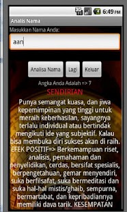 Analis Nama screenshot