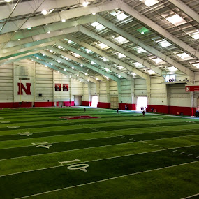Indoor practice field at Memorial Stadium  by Darla Grumbles - Sports & Fitness American and Canadian football (  )