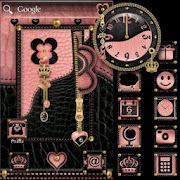 ADWTheme Pink-Heart Blk-Crown 1.2 Icon
