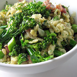 Brown Butter Spaetzle With Prosciutto And Broccoli Rabe.