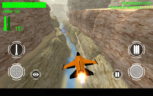 Orange Jet Fighter- screenshot thumbnail