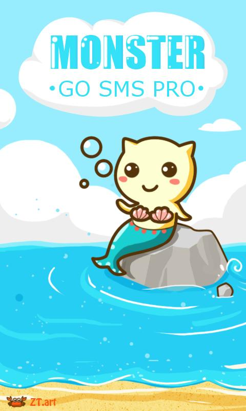 GO SMS Pro Beach ThemeEX - screenshot