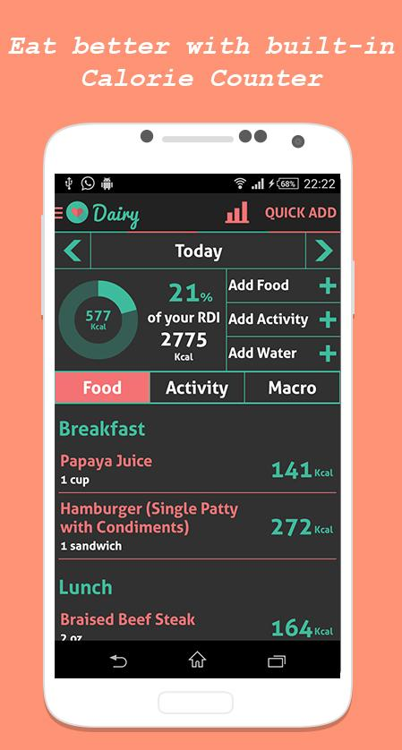 Health diet fitness tracker android apps on google play