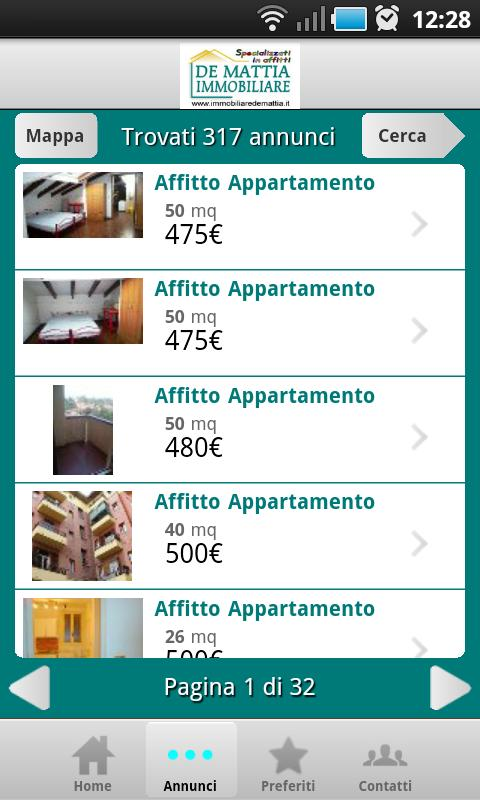 Immobiliare De Mattia - screenshot