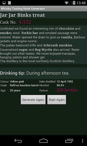 Whisky Note Generator  screenshots 2