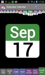 Status bar Calendar v1.7