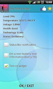Sexy Battery Widget - screenshot thumbnail