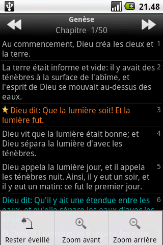 La Sainte Bible, Louis Segond- screenshot