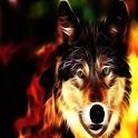 3D cool Wolf logo