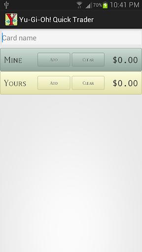 YuGiOh Quick Trader