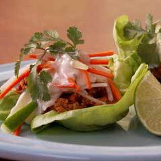Turkey Lettuce ''tacos''.