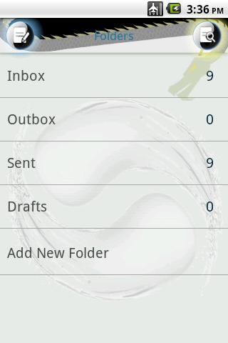 Easy SMS Taichi theme - screenshot