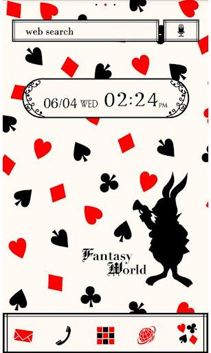 Cute Theme-Cards in Wonderland 1.0 Windows u7528 1