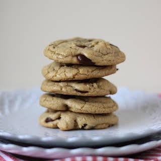 Dark Chocolate Chip Walnut Coconut Oil Cookies.