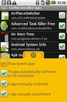 Screenshot of CIA - Confirm Installed Apps