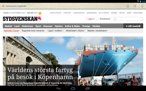 Sverige Tidningar- screenshot thumbnail