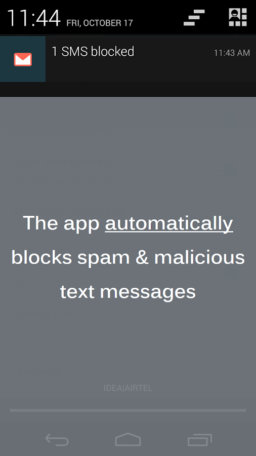 SMS Blocker Clean Inbox - screenshot