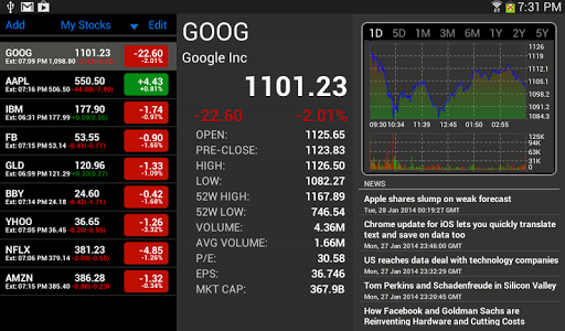 Stock Tracker HD