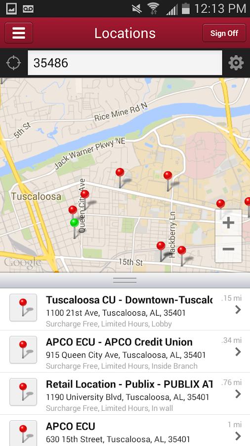 Alabama CU for Android - screenshot