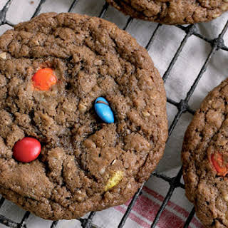 Monster Chocolate M&M Cookies.