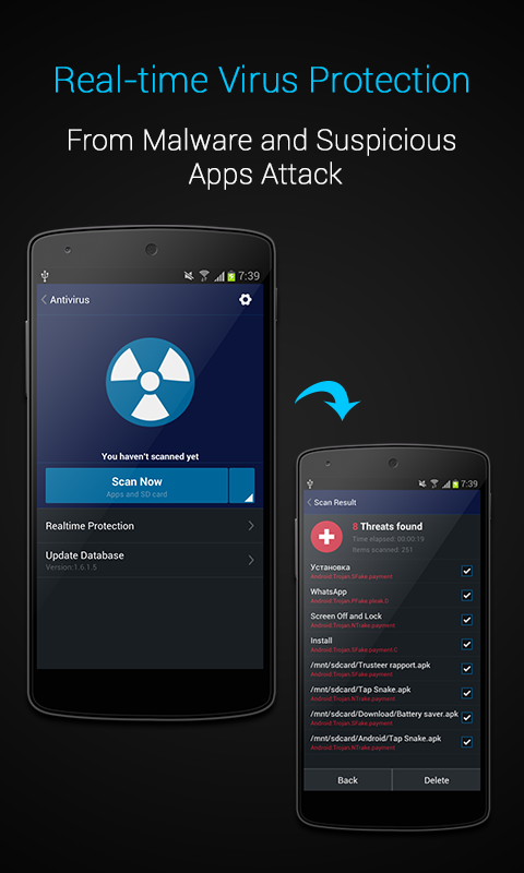 AMC Security- Antivirus, Clean - screenshot