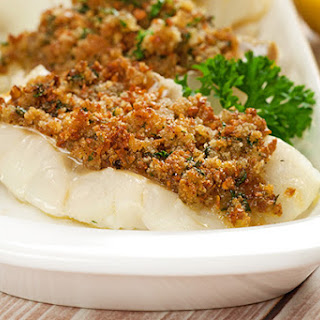 Cod With Lemon-Parsley Crumb Topping.