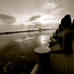 It Takes Three To Tango by Jyoti Chowdhury - Black & White Portraits & People ( black and white, ballet )