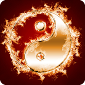 Ying Yang In Fire LWP Animated