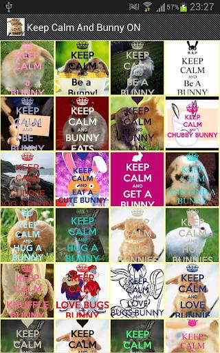 Keep Calm And Bunny ON