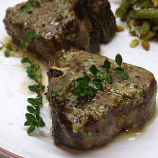 Lamb Chops with Lemon, Thyme and Mustard Butter