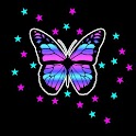 3D colorful butterfly 2 logo