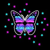 3D colorful butterfly 2