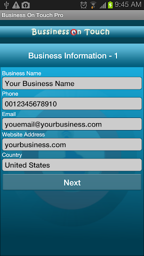 Business On Touch Pro