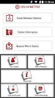 Screenshot of Delhi Metro Rail