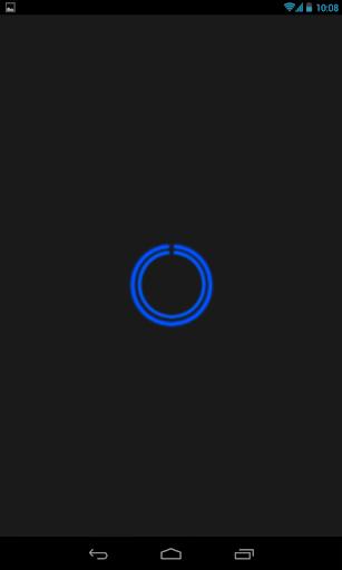 Blue C-Circle Neon Clock