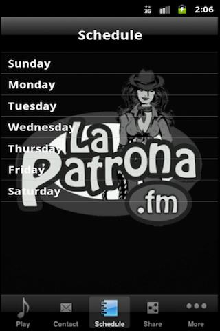 LaPatrona.FM- screenshot