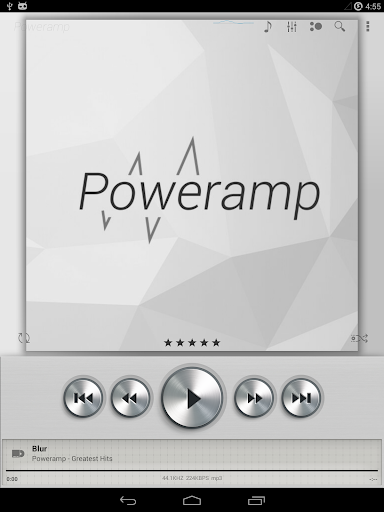 Skin for Poweramp Light Metall  screenshots 8
