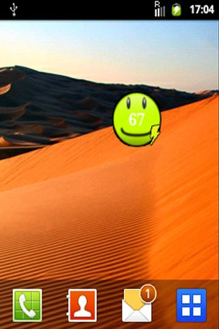 Smile battery widget
