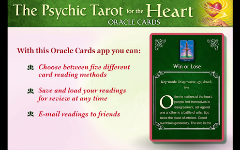 Psychic Tarot for the Heart - screenshot thumbnail
