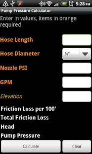 Pump Pressure Calculator - screenshot thumbnail